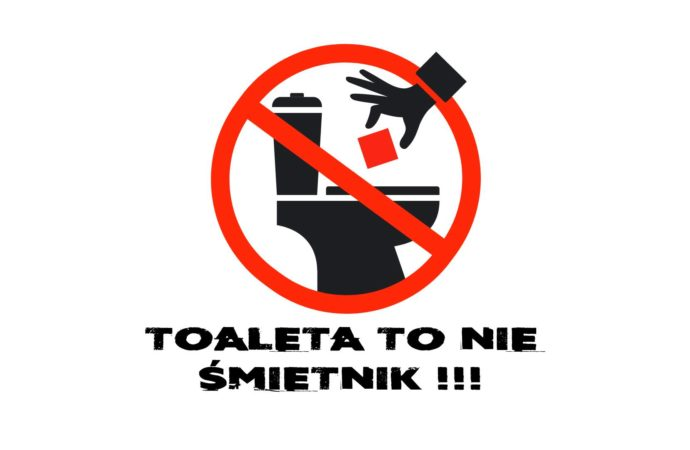Zmień nawyki ! WC to nie kosz na śmieci!